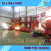 New Design XD-20CAP Waste engine oil/lube oil /Crude oil Recycling Distillation Plant to diesel