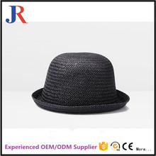 Custom fshion straw fabric adult bucket hat