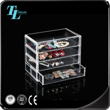 Factory price jewellery storage organizer clear acrylic jewelry boxes