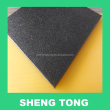 High quality Black skin texture hdpe/abs sheet with peel orange rough surface