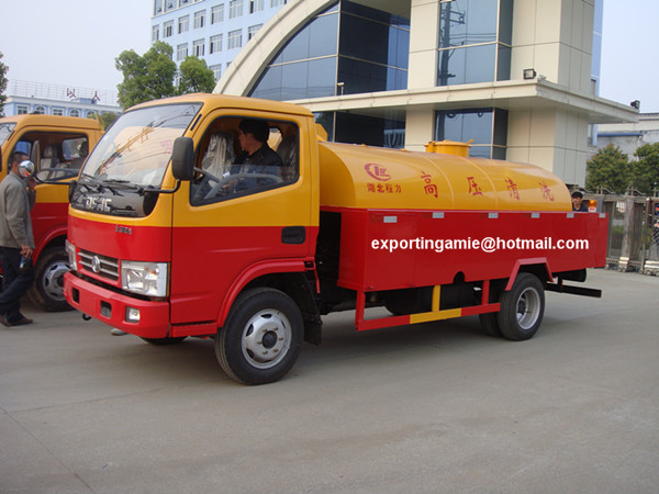 China 4x2 low price 5000 liters drain pipe cleaner truck for sale