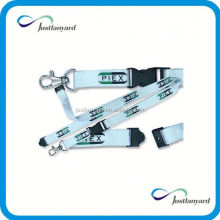 New high quality shiny heat transfer printing lanyard with trigger hook