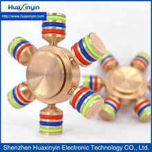 2017 Stainless Steel Six Side Gold Color Metal Finger Fidget Spinner