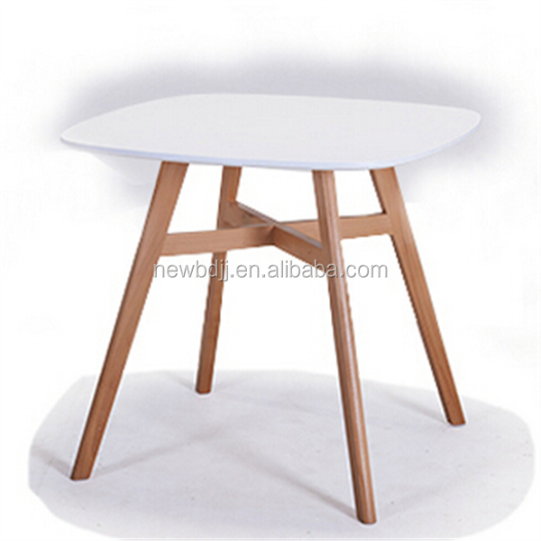 2015 modern new model mdf dining table with wood leg buy