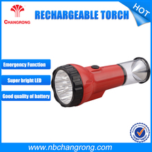 5 hours Working time led flashlight torch rechargeable heavy duty torch light