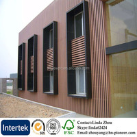external WPC wall cladding outdoor anti-UV wood plastic composite wall cladding waterproof WPC composite wood wall cladding