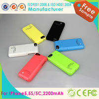 2200mAh Backup Power Charger External Battery Case with Stand for iphone 5s/5c