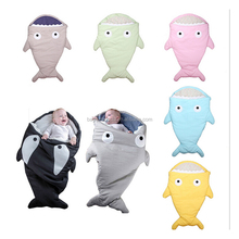 Chinese Manufacturer Personalized Super Soft Shark Shaped Baby Sleep Bag