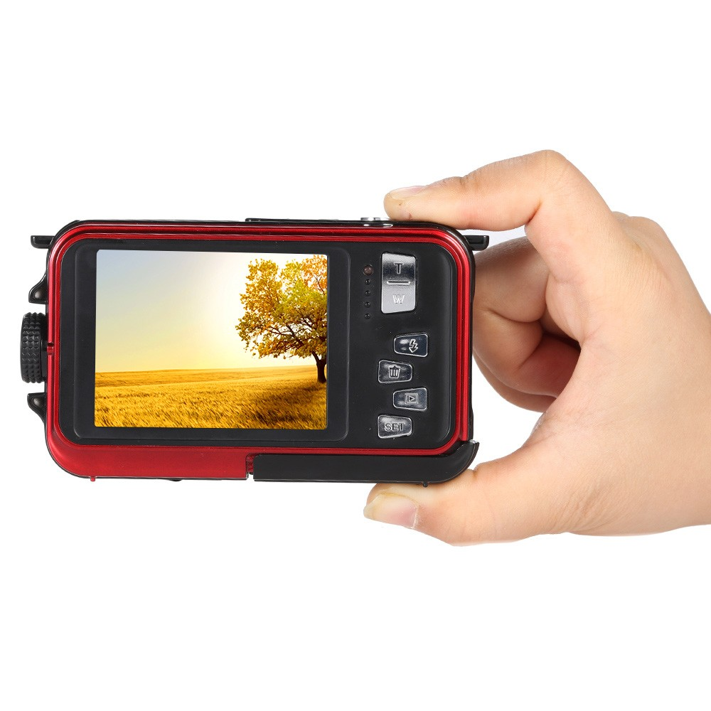 24mp digital camera digital/dual display waterproof camera