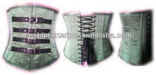 Steel Boned Waist Training Corset Underbust / military corset