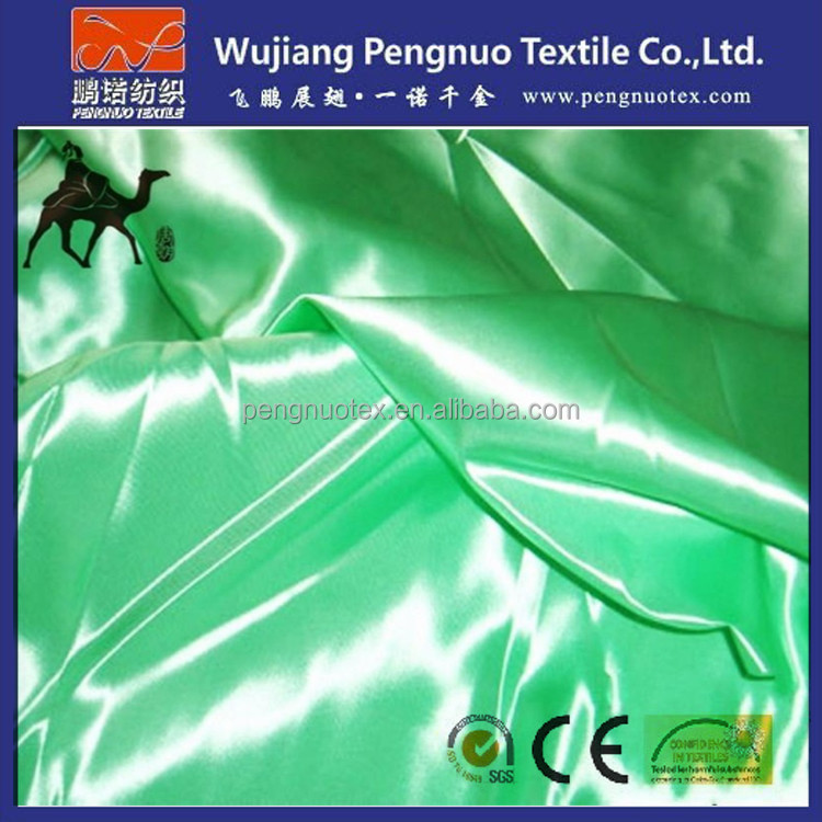100% polyester bright pattern shiny satin fabric/mirror satin fabric for scarf/curtain and garment lining