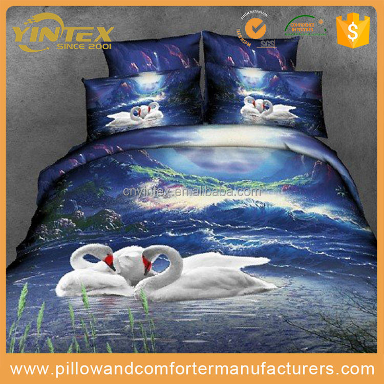 3d animals 100% cotton printed bed sheet set cover fabric Bedding Sheet
