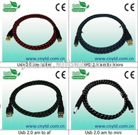 Various types of customized braided cable braided usb cable