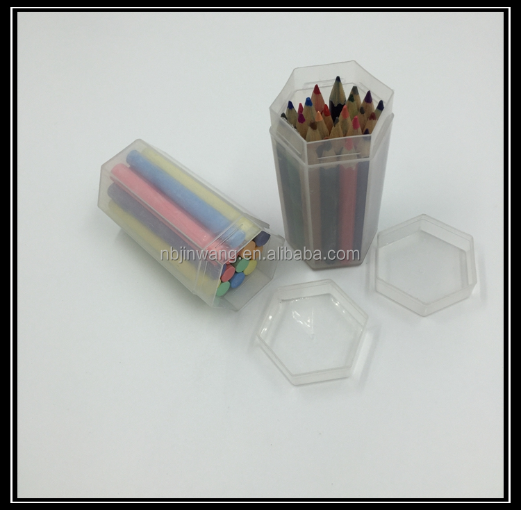 plastic PP barrel pack color sidewalk chalk /PP bucket