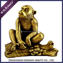 Cute polyresin abstract monkey sculpture for home garden decoration