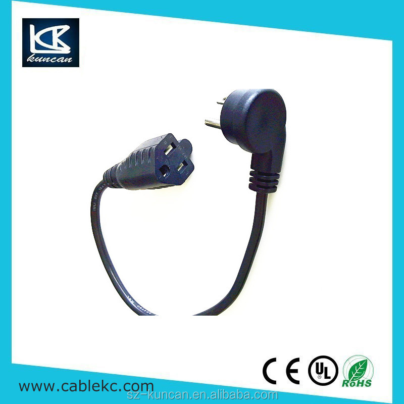 AC power cord for 3 outlets extension cord