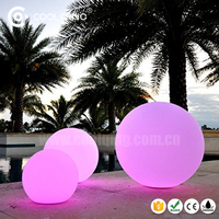CE RoHS approved 16 color changing waterproof led pool garden illuminated ball light