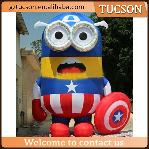 Most popular attractive inflatable minions/Cute inflatable cartoon character