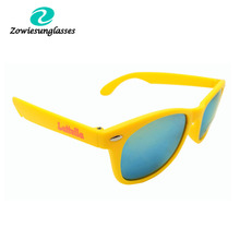 custom cheap promotional sunglasses neon yellow sunglasses with different design