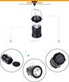 Rechargeable Portable LED solar camping light