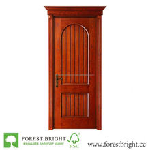 Rustic new design wooden door with arched top