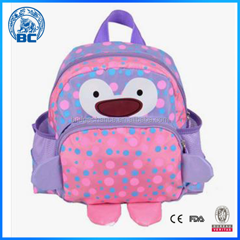 Manufacture Beautiful Bag Cute Girls Zipper School Backpack