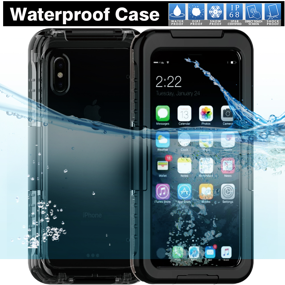2017 New Product High Quality Waterproof Case Snow Dirt Proof Perfect Fit for Swimming Surfing Skiing Case Cover for iPhone 8
