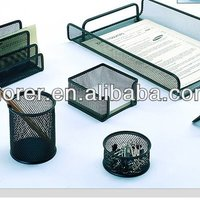 Metal Mesh Office Stationery Gift Set