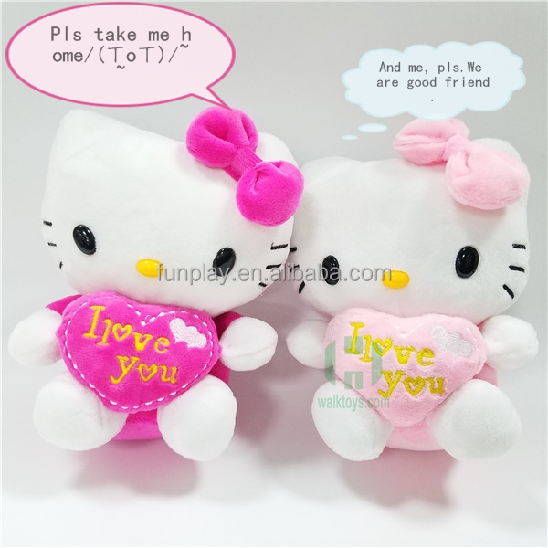 HI CE new arrival lovely stuffed plush Kitty toy for girls,stuffed plush toy Kitty for hot selling Valentine day gift