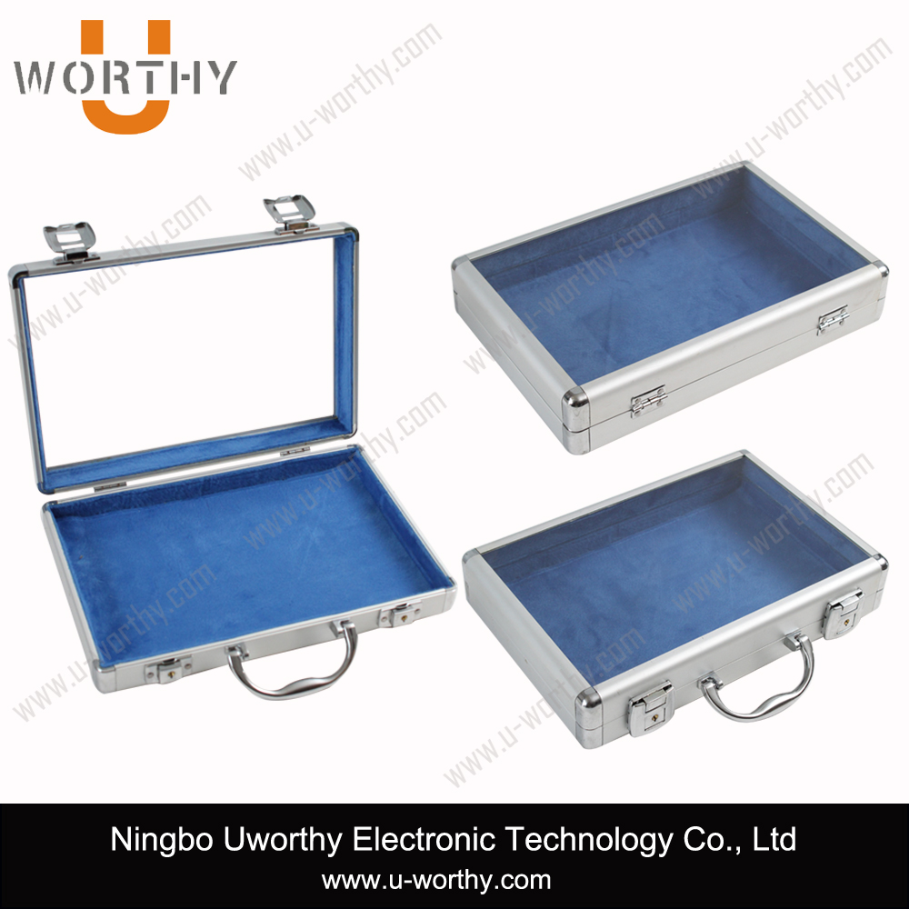 alibaba hottest selling 2015 new product high quality new style transparent acrylic top aluminum case