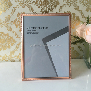 Chinese wholesale brass copper golden Plastic picture photo frame