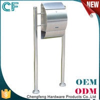 Hot Sell 2015 New Products Modern Standing Metal Post Box