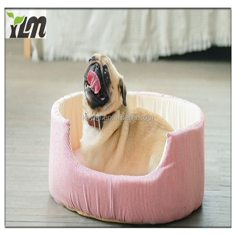 YLM customized style cute lovely noble pink and colorful dog sofa bed furniture supplies