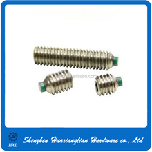 China factory supply rubber nylon tip set screw with high quality