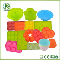 Food safe grade silicone cake molds with various shape and different color