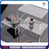 TSD-A886 Custom table top clear acrylic display riser,shop fitting and store fixtures,acrylic riser stand