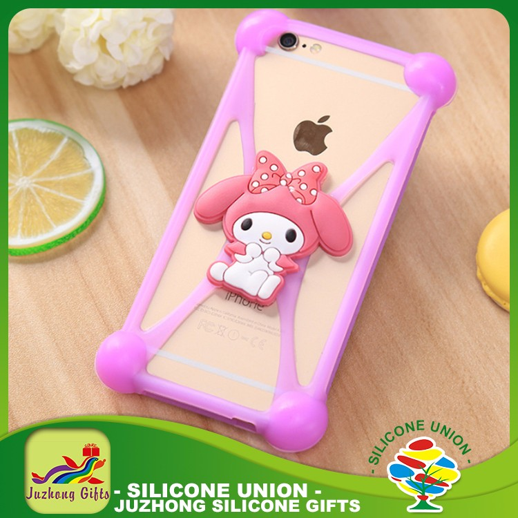 Universal mobile phone case cute animal Silicone bumper case for iphone 7 7s plus