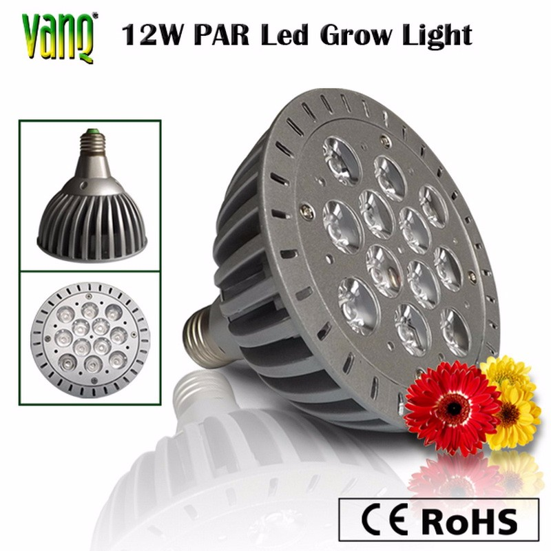 Hydroponic/flower/vegetable grow light aluminum alloy 7W 12W e27 led grow light