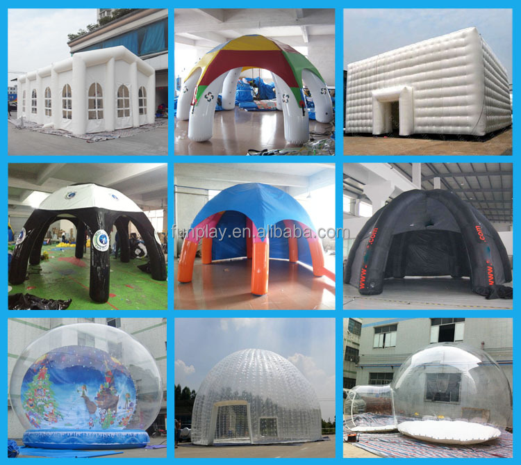 2016 best quality bell tent,inflatable white dome tent,big tent