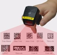 FS02 tiny 2d Bluetooth Scan Gun, finger image barcode scanner certificated by CE, FCC, CE, ROHS