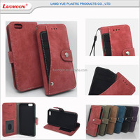 Multifunction PU Leather phone 6 mobile cases for iphone 6 6s plus cases with rotary card slot