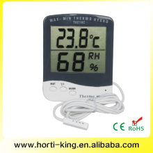 Indoor Humidity Monitor Thermometer Digital Hygrometer Monitor with Stand and Large LCD Display