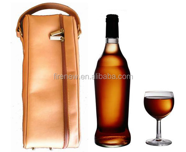 PU Leather Wine Carrier for One Bottle
