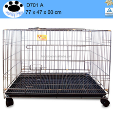 plastic & wire black new portable foldable animal dog puppy pet house cage