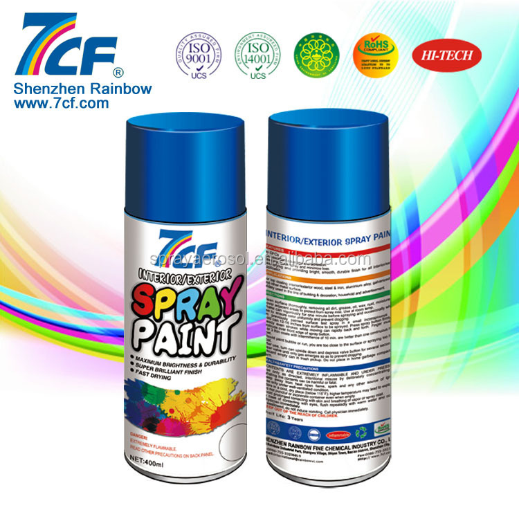 High Quality Multi- color Shenzhen Rainbow Fine Chemical Brand 7cf Antique Brass Powder Coating Spray Paint