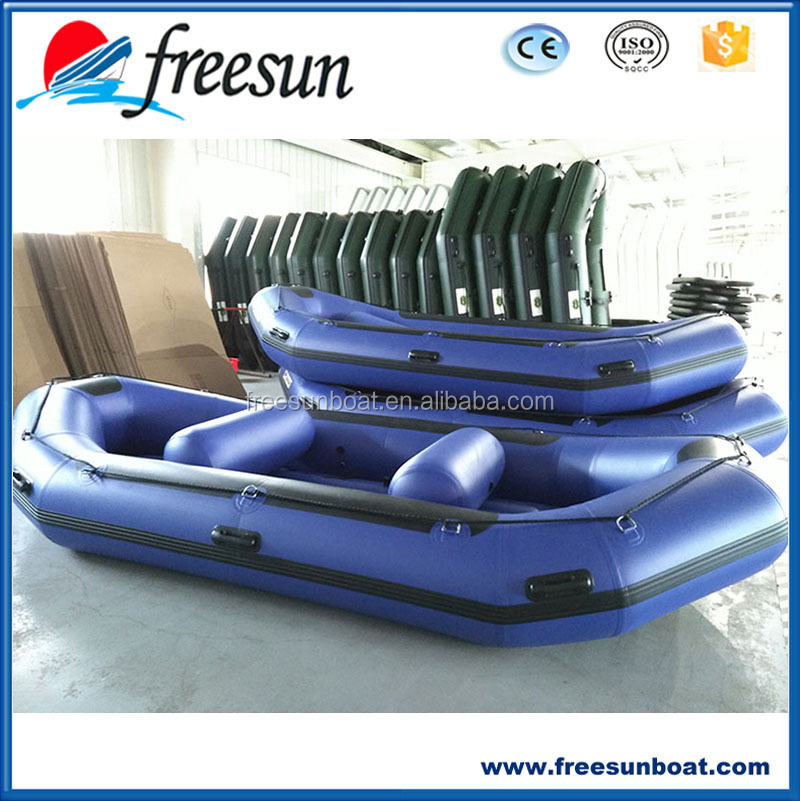 Weihai FREESUN Manufacturer Hot Sale 8 persons Blue Inflatable Raft Motor Boat