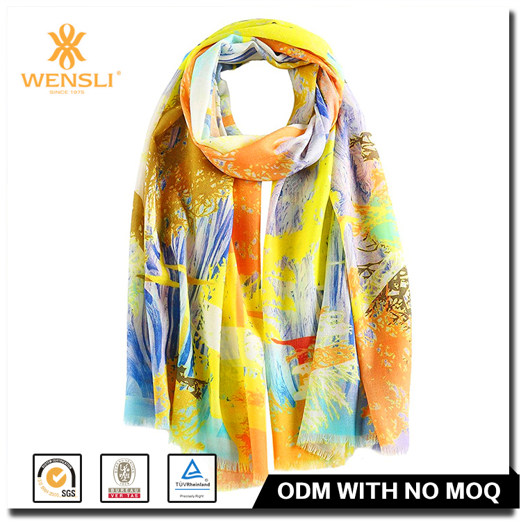 Kshmir Wool Shawl Printed Women Shawl Scarf Winter Shawl