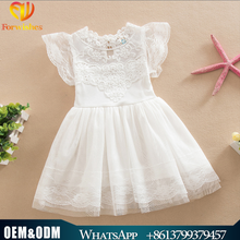 Foreign Trade Children Clothes Kids Frocks Designs Pure Cotton Lace Flower Princess Dress Baby Wedding Dress