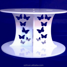 acrylic 2 tier cake stand wedding