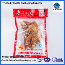 Gravure printing heat seal meat vacuum bag for chicken packaging /chicken paws packaging